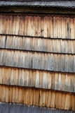 Old wooden shingle surface Stock Image