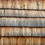 Old wooden shingle surface Royalty Free Stock Photo