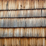 Old wooden shingle surface Stock Images