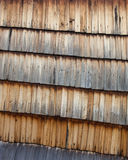 Old wooden shingle surface Stock Photography
