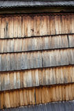 Old wooden shingle surface Stock Photos