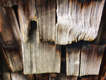 Old wooden shingles Royalty Free Stock Photography