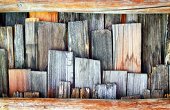 Old wooden shingles Stock Photo