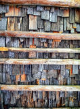 Old wooden shingles Royalty Free Stock Images
