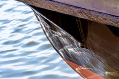 Old wooden ship bow Royalty Free Stock Photo