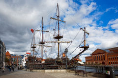 Old wooden ship in Gdansk, Poland Royalty Free Stock Photo