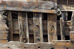 Old wooden ship hull texture. grunge wood background Stock Photography