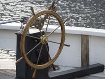 Old wooden ship rudder Royalty Free Stock Image