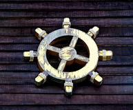 The Old wooden ship wheel Royalty Free Stock Photos