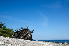 Old wooden shipwreck Royalty Free Stock Photography