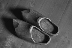 Old wooden shoes Royalty Free Stock Photos