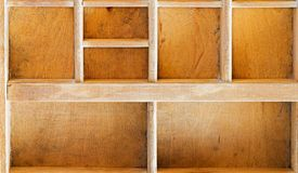 Old wooden showcase Stock Images