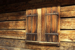 Old wooden shutters. A shuttered window on an old barn Royalty Free Stock Photo