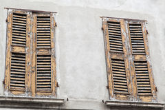 Old wooden shutters Royalty Free Stock Photo