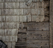 Old wooden siding Stock Images