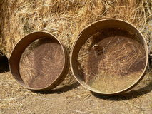Old wooden sieve Royalty Free Stock Photo
