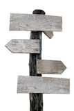 Old wooden sign. Isolate background Royalty Free Stock Photography