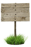 Old wooden sign Stock Images