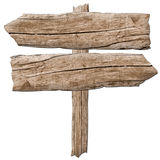 Old wooden sign Arrow Stock Images