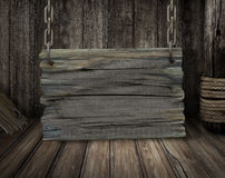 Old wooden sign board Royalty Free Stock Images