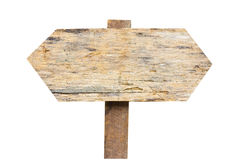 Old wooden sign isolated on a white background. Stock Photography