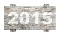Old wooden sign with 2015 Stock Photos