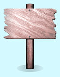 Old Wooden Sign Post. Weathered sign post like you might find in a fish tank Stock Image