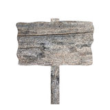 Old wooden signboard isolated. Stock Photography