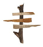 Old wooden signpost Stock Photography