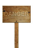 Old wooden signpost. With text royalty free stock images