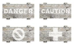 Old wooden signs set Royalty Free Stock Photography