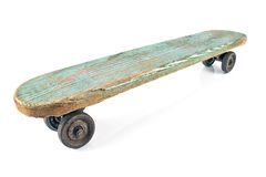 Old wooden skateboard Royalty Free Stock Image