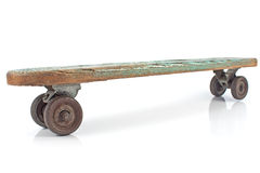Old wooden skateboard Royalty Free Stock Photos