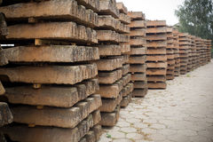 Old wooden sleepers Royalty Free Stock Photography