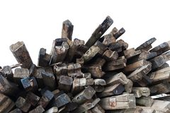 Old wooden sleepers royalty free stock photos