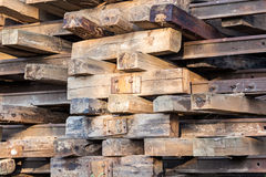 Old wooden sleepers Stock Photography
