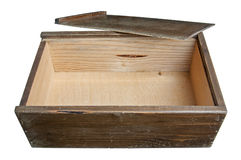 Old wooden sliding Lid Box Stock Photos