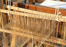 Old wooden Spinning frame for textile processing Royalty Free Stock Photography