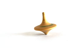 Old wooden spinning top Royalty Free Stock Photos