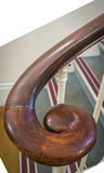 Old wooden spiral handrail Royalty Free Stock Image