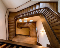 Old, wooden spiral staircase Royalty Free Stock Photos