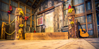 Old wooden stage Royalty Free Stock Image