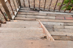 Old wooden stair Royalty Free Stock Photos