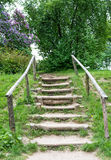 Old wooden staircase. Stock Photography