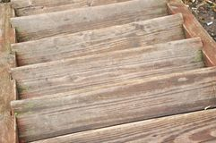 Old wooden staircase stock image