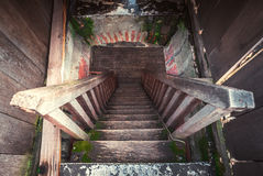 Old wooden stairs Royalty Free Stock Photo