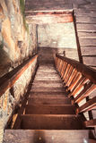 Old wooden stairs Royalty Free Stock Image