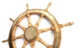 Old wooden steering wheel Stock Image