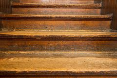 Old wooden steps Stock Photo