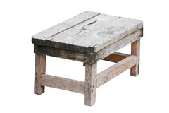 Old Wooden Stool. Stock Photo